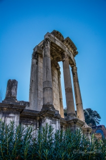 Part of the circular Temple of Vesta