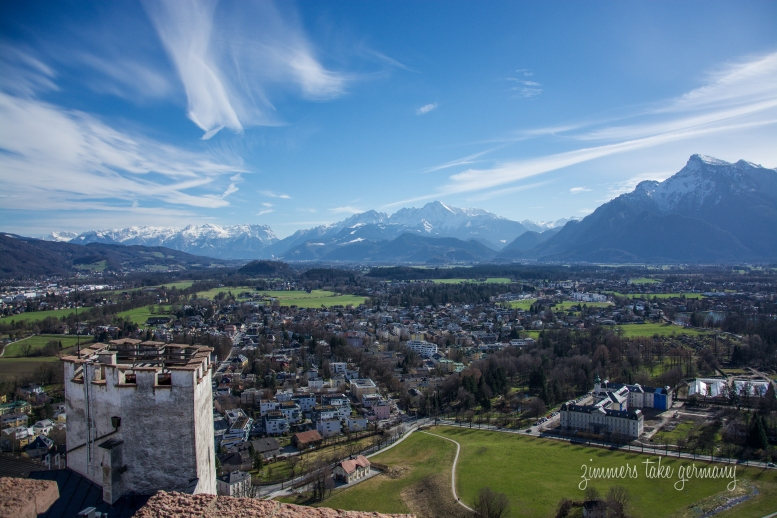 The view from the highest point at Hohensalzburg Fortress